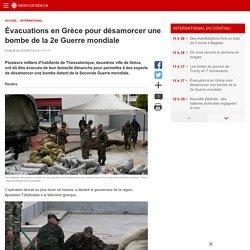 Évacuations en Grèce pour désamorcer une bombe de la 2e Guerremondiale