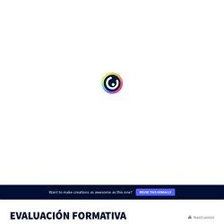 EVALUACIÓN FORMATIVA DIGITAL by David Ruiz on Genially