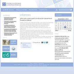 ¿Por qué y para qué la evaluación docente en América Latina? — CEPP