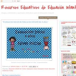 """""""Evaluación Inicial de Educación Infantil de 4 años"""""""