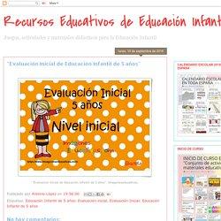 """""""Evaluación Inicial de Educación Infantil de 5 años"""""""