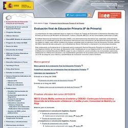 Evaluación final de Educación Primaria (6º de Primaria)Instituto Nacional de Evaluación Educativa