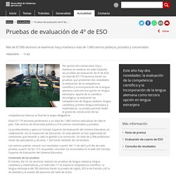 Pruebas de evaluación de 4º de ESO. Generalitat de Cataluña