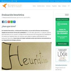 Evaluación heurística - Dispersium