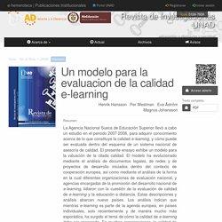 Un modelo para la evaluacion de la calidad e-learning