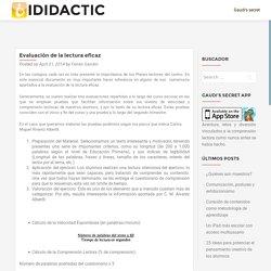 Evaluación de la lectura eficaz – iDidactic