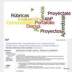 Evaluación en AbP: diarios, rúbricas y portafolios - AbP