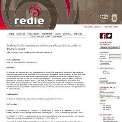 Evaluación de centros escolares de educación secundaria del País Vasco