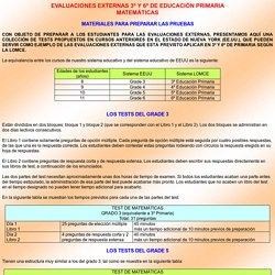 EVALUACIONES EXTERNAS 3º Y 6º DE EDUCACIÓN PRIMARIA
