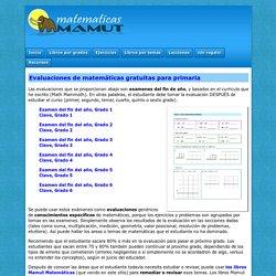 Evaluaciones de matemáticas gratuitas para primaria (grados 1-6)