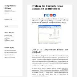 Evaluar las Competencias Básicas en cuatro pasos