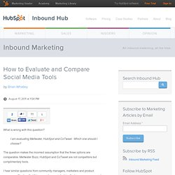 How to: Evaluate and Compare Social Media Tools