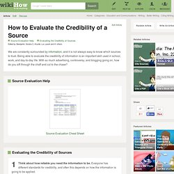How to Evaluate the Credibility of a Source (with Cheat Sheet)