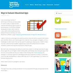Ways to Evaluate Educational Apps