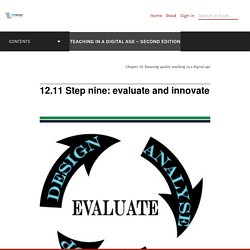 12.11 Step nine: evaluate and innovate – Teaching in a Digital Age – Second Edition