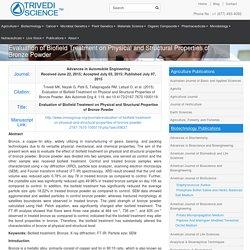 The Trivedi Effect® Impact on Properties of Bronze Powder