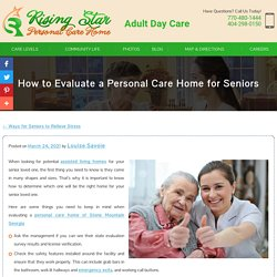 How to Evaluate a Personal Care Home for Seniors