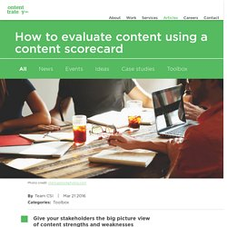 How to evaluate content using a content scorecard