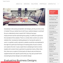 5 Ways of Evaluating Business Designs