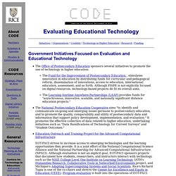CODE: Evaluating Educational Technology