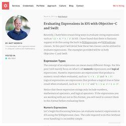 Evaluating Expressions in iOS with Objective-C and Swift