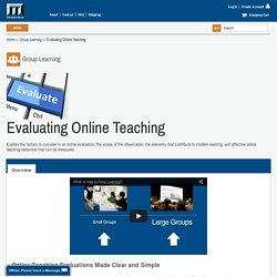 Evaluating Online Teaching