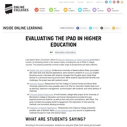 Evaluating the iPad in Higher Education
