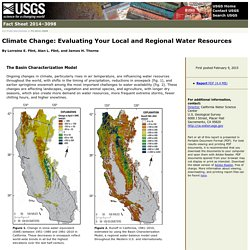 Fact Sheet 2014–3098: Climate Change: Evaluating Your Local and Regional Water Resources