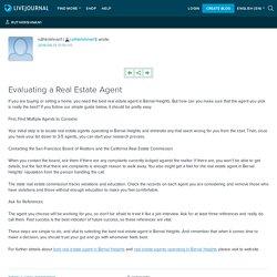 Evaluating a Real Estate Agent: ruthkrishnan1