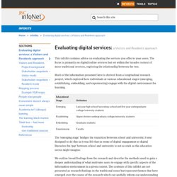 Evaluating digital services: a Visitors and Residents approach