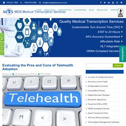 Evaluating the Pros and Cons of Telehealth Adoption