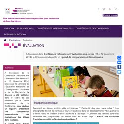évaluation-rapport de comparaisons internationales