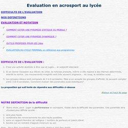 Evaluation en acrosport au lycée
