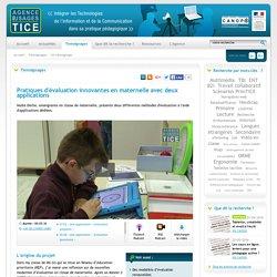 L'Agence nationale des Usages des TICE - Pratiques d'évaluation innovantes en maternelle avec deux applications