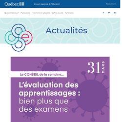 L'évaluation des apprentissages : bien plus que des examens - CSE