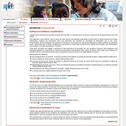 Nos actions - Recherche et Évaluation - Apféé - Association pour favoriser l'égalité des chances à l'école