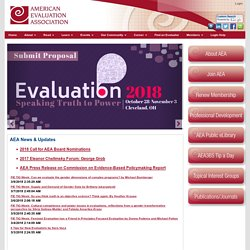 American Evaluation Association Homepage