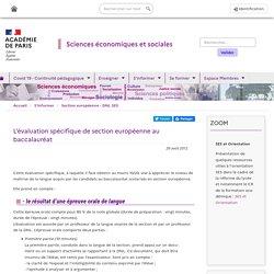 L'évaluation spécifique de section européenne au baccalauréat