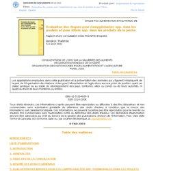 Evaluation des risques pour Campylobacter spp. dans les poulets et pour Vibrio spp. dans les produits de la pêche
