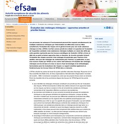 "EFSA 12/07/13 Assessing ""chemical mixtures"" – current approaches and future priorities"