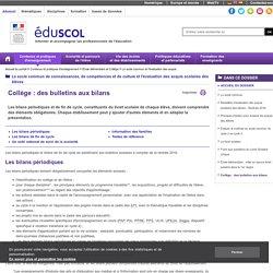 Collège : des bulletins aux bilans