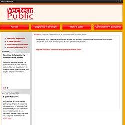 Etude : l'?valuation de la communication publique locale