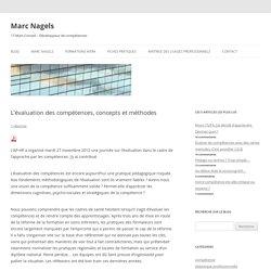 L'évaluation des compétences, concepts et méthodes