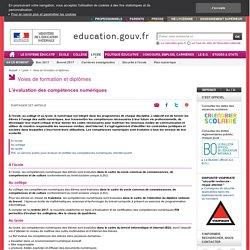 L'évaluation des compétences numériques