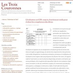 L'évaluation au CDI : enjeux, fonctions et outils pour évaluer les compétences des élèves