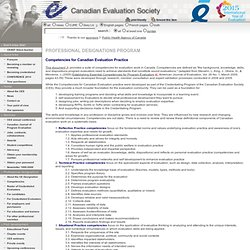 Canadian Evaluation Society - Competencies