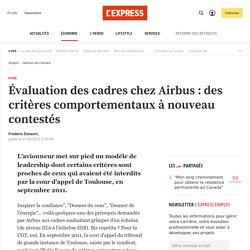 Évaluation des cadres chez Airbus : des critères comportementaux à nouveau contestés