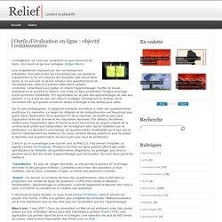 Outils d'évaluation en ligne : objectif connaissances
