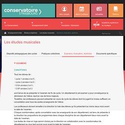 Examens, évaluation, diplômes - Conservatoire de Strasbourg