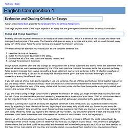 criteria evaluate essays